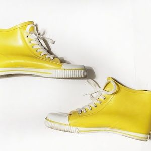 🍁 Aldo Recycled Yellow Lace Rubber Sneakers